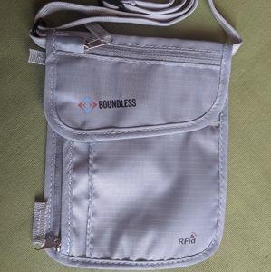 Boundless RFID blocking neck wallet passport case